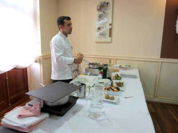 Francis Refolio en el Show Cooking de El Corregidor